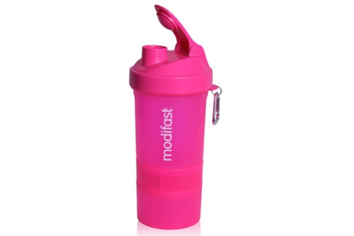 Modifast Shaker 600ml Neon Pink